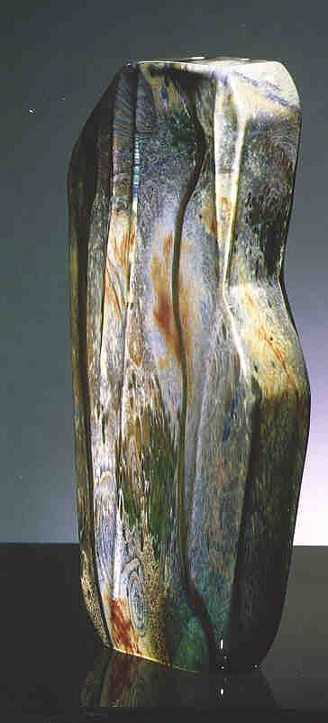William Morris, Standing Stone (Gray) 1985, Glass