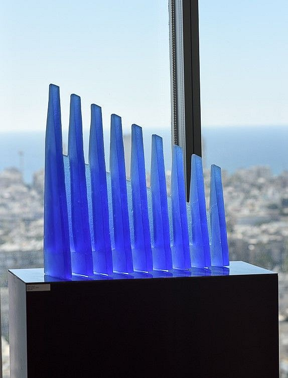 Zora Palova, Blue Bridge 2011, Glass