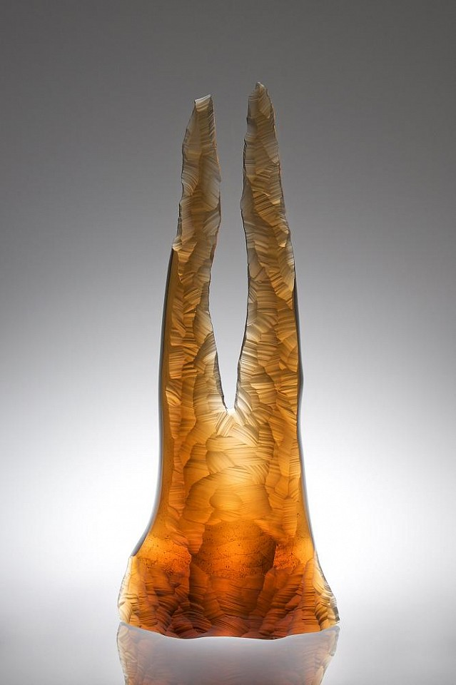 Peter Bremers, Canyons & Deserts 48, Rabbit Ears 2010, Glass