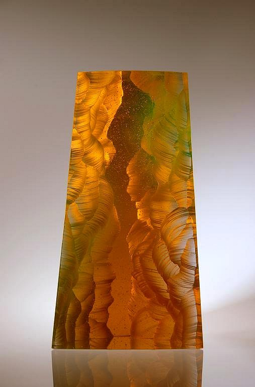 Peter Bremers, Canyons & Deserts 53, Time Traveler 2010, Glass