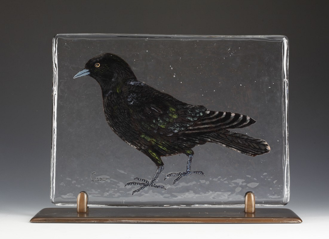 Mace Kirkpatrick, Bird Page: Crow 2009, Glass